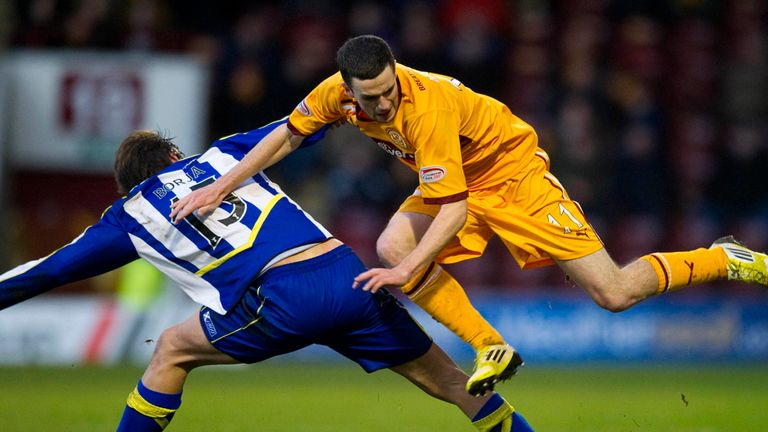 Jamie Murphy: Motherwell striker in action against Kilmarnock