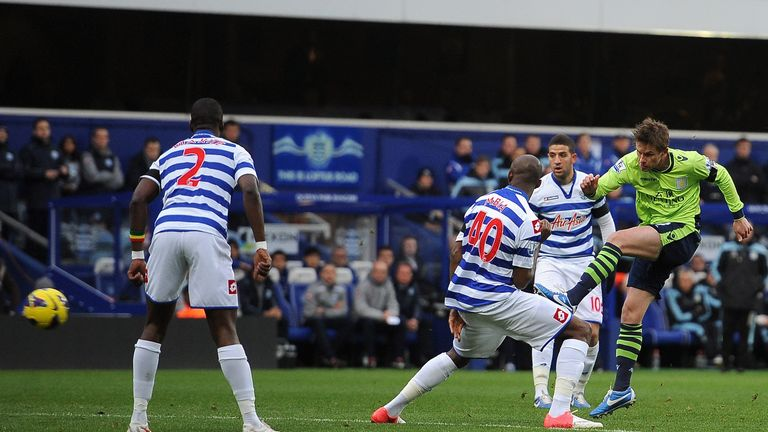 Brett Holman: Scored his first goal for Villa against QPR