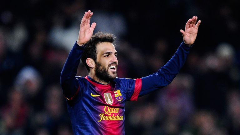 Fabregas: Got the fourth for Barcelona