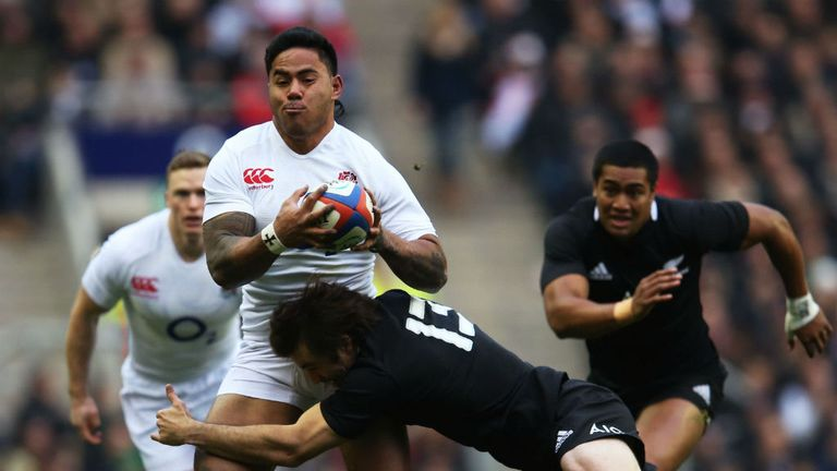 Manu Tuilagi in action against New Zealand