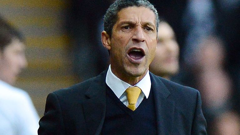 Chris Hughton: In positive mood despite coming out on wrong end of seven-goal thriller against Man City