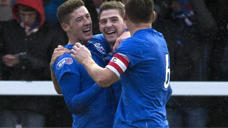 Kyle Hutton celebrates his goal with team-mates