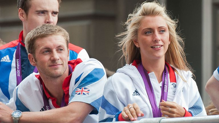 Jason Kenny and Laura Trott: Love is in the air for cycling's newest pair of OBEs