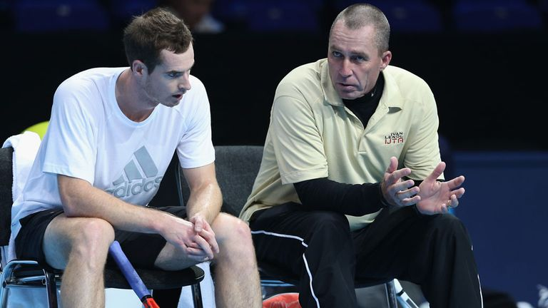 Andy Murray with Ivan Lendl at the O2 Arena