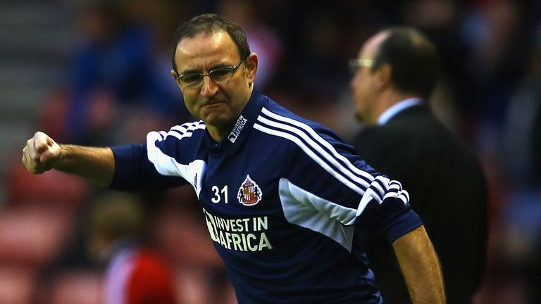 Martin O'Neill: Hopes to be celebrating again at Anfield on Wednesday
