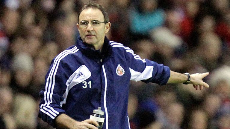 Martin O'Neill: Sunderland boss is short of striking options