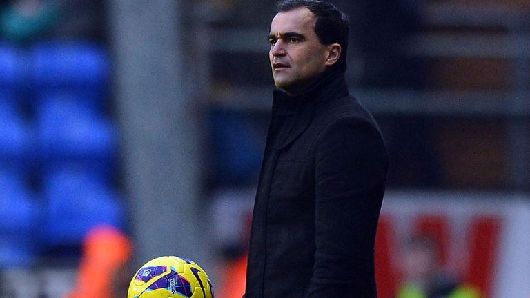 Roberto Martinez: Expects a passionate game at Moss Rose on Saturday as Wigan take on Macclesfield