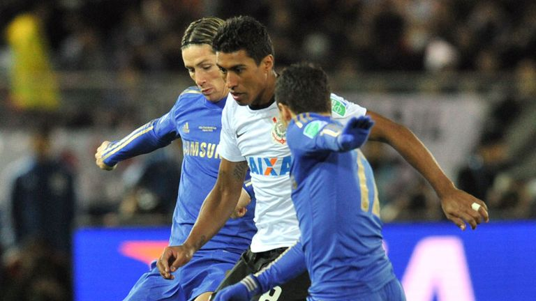 Paulinho: In action against Chelsea in the World Club Cup