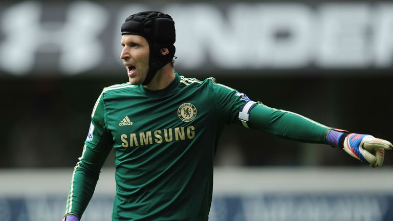 Petr Cech: Faces a spell on the sidelines after breaking his little finger