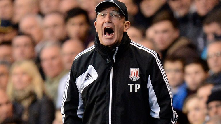 Tony Pulis welcomes Frank Lampard to the Britannia Stadium on Saturday
