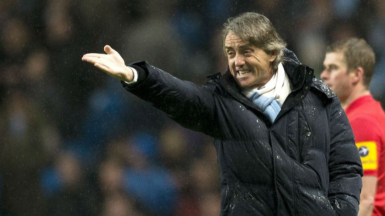 Roberto Mancini: Believed to be walking a tightrope at Man City