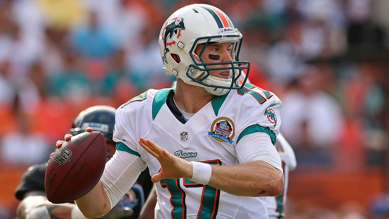 Ryan Tannehill: rookie threw two touchdown passes in Miami's comfortable victory