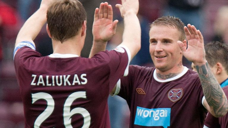 Ryan Stevenson: Scored twice for Hearts