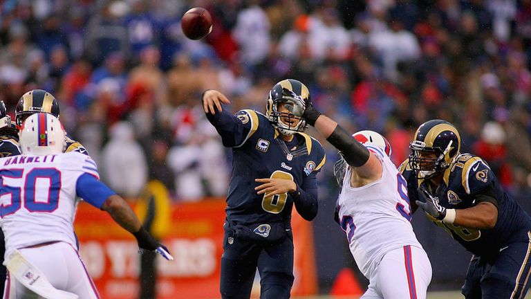 Sam Bradford: St Louis quarterback took control in the closing stages