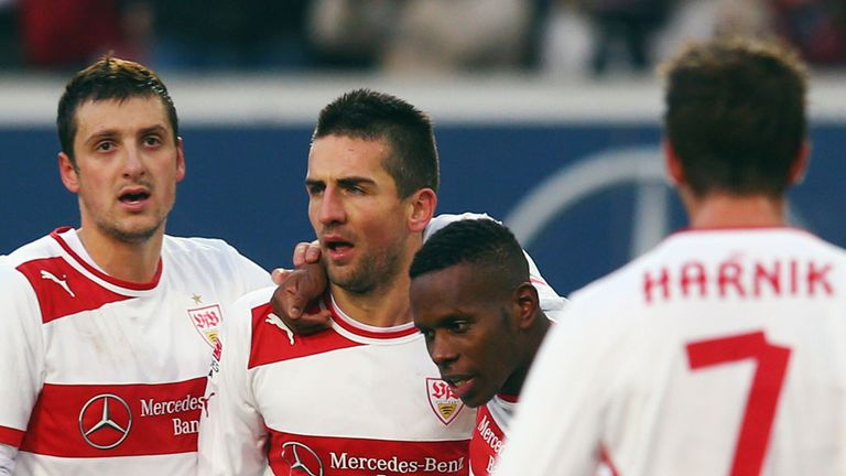 Vedad Ibisevic leads the Stuttgart celebrations