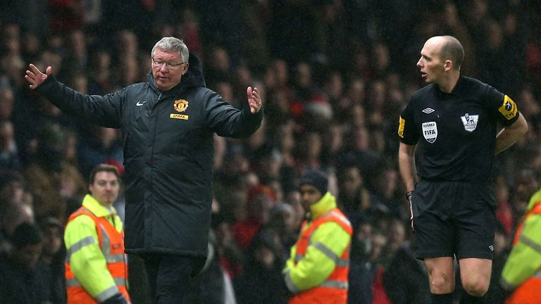 Sir Alex Ferguson was unhappy about Newcastle's second goal