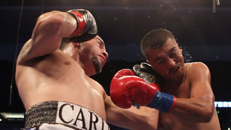 Carlos Molina (L): Looking to take advantage of his opportunity against Amir Khan