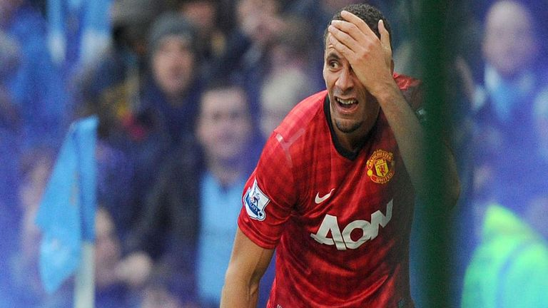 Rio Ferdinand: Manchester United defender was struck by a coin thrown from the crowd