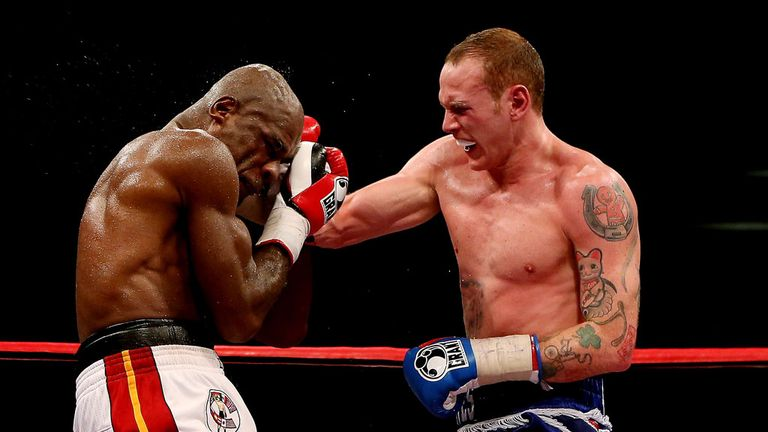 George Groves hammered Glen Johnson but could not get him out