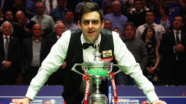Ronnie O'Sullivan celebrates 2012 world title