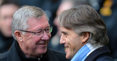 Sir Alex Ferguson and Roberto Mancini: Scot had the last laugh