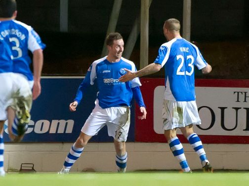 Steven MacLean celebrates his equaliser