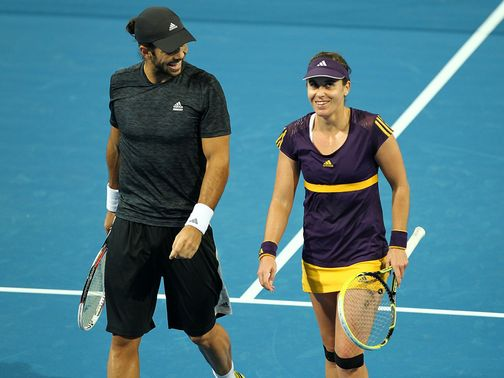 Fernando Verdasco and Anabel Medina Garrigues won for Spain.
