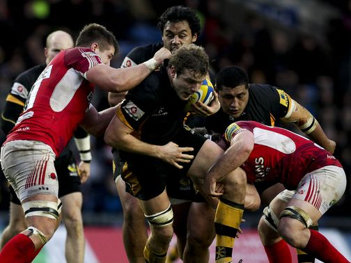 Joe Launchbury&#39;s Wasps are taken for a narrow win