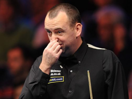 Mark Williams is out of the UK Championship.