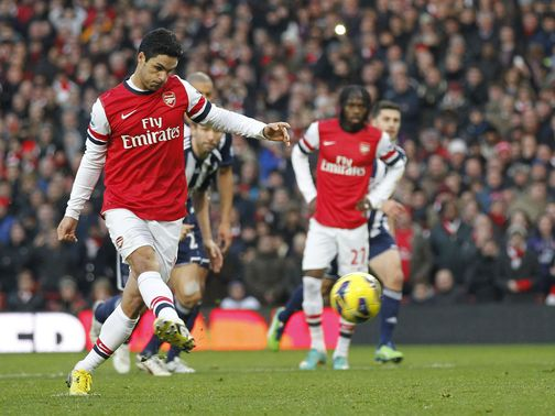 Arteta gives Arsenal the lead from the penalty spot