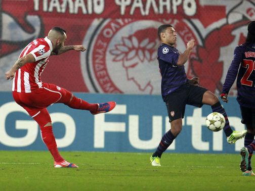 Kostas Mitroglou scored the winning goal for Olympiacos