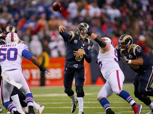 Bradford drove the Rams to a win over Buffalo