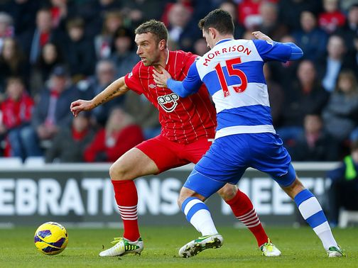 Rickie Lambert takes on Sean Morrison