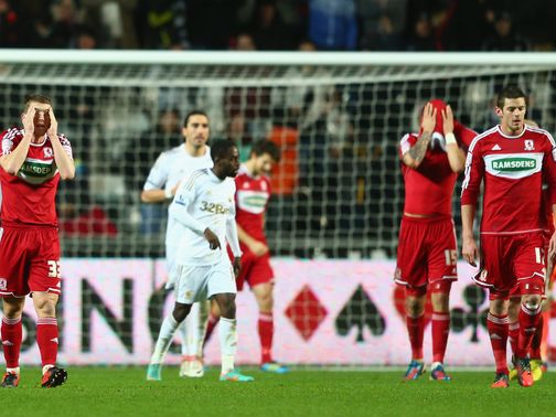 Swansea overcame Middlesbrough on Wednesday night