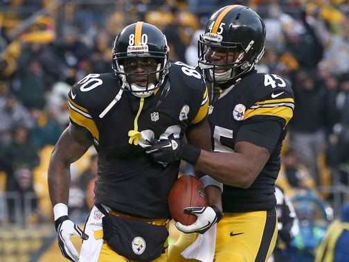 Plaxico Burress: scored his first TD since returning for his second spell with the Steelers