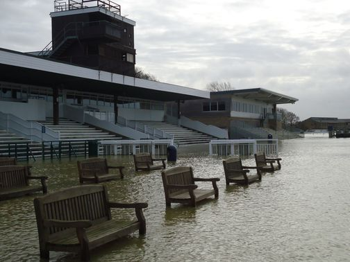 The bleak scene at Huntingdon on Sunday