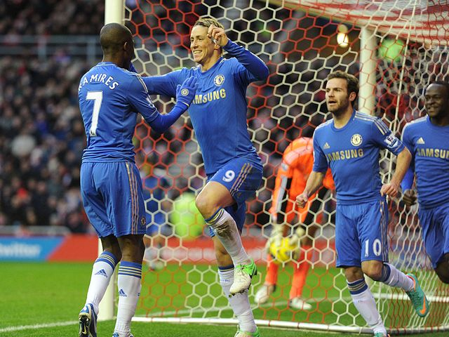 Torres celebrates after opening the scoring
