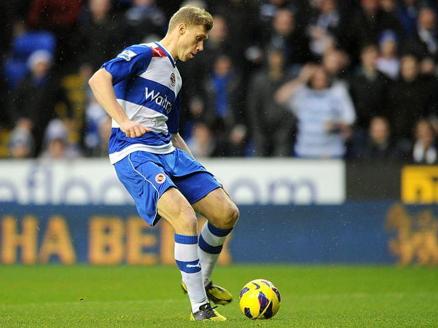 Pavel Pogrebnyak slides Reading in front