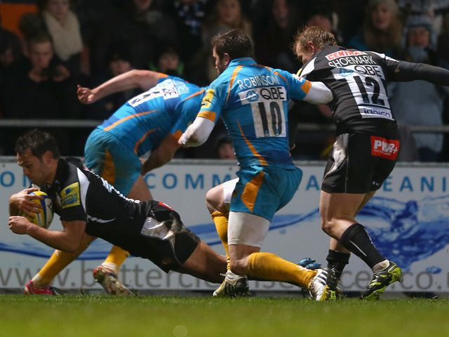 Dolman dives over for Exeter