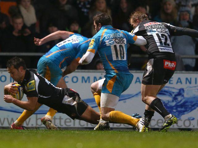 Dolman dives over for Exeter