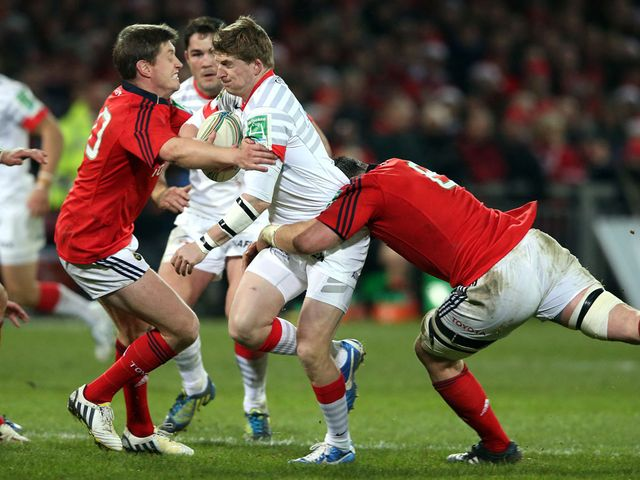 O'Gara (left): Five from five kicks against Sarries