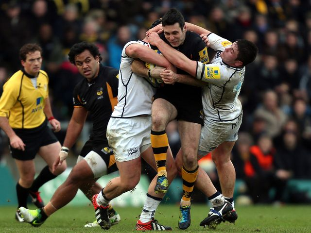 Stephen Jones in action for Wasps