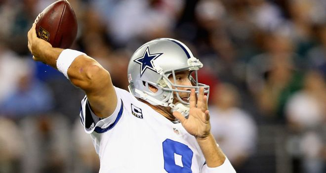 Tony Romo: Broke Troy Aikman's franchise record for touchdown passes