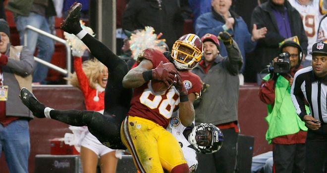Pierre Garcon: Redskins receiver hauled in a late touchdown catch