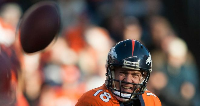 Peyton Manning: Threw three touchdown passes for the Denver Broncos