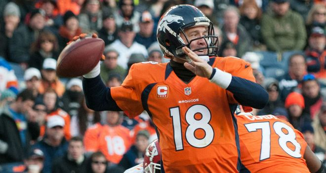 Peyton Manning: won division title in his first season in Denver