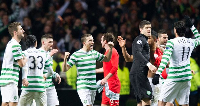 Celtic: qualified for the knockout stages of the Champions League