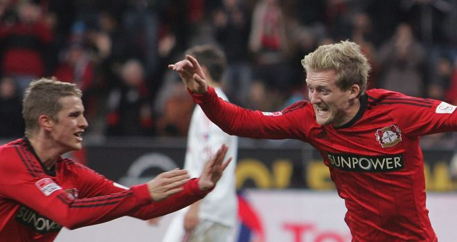 Leverkusen had three goals to celebrate