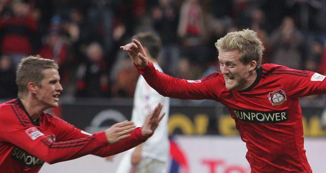Leverkusen had three goals to celebrate