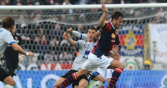 Alberto Gilardino in action.